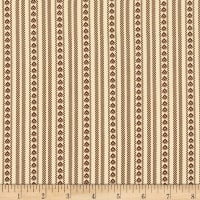 Benartex Prairie Homestead Bandana Ticking Natural/Mahogany