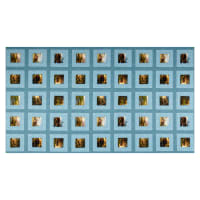 "Benartex Homestead Retreat Homestead 24"" Panel Patch Blue"
