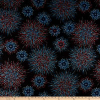 Kanvas Star Spangled Fireworks Shimmer Black