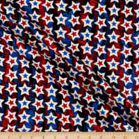 Kanvas Star Spangled Confetti Stars Red/Blue