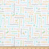 Kanvas Some Bunny Loves You Spring Time Words White/Multi