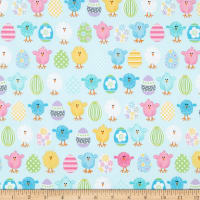 Kanvas Some Bunny Loves You Spring Bird & Eggs Light Blue