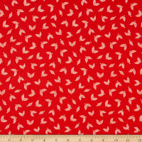Benartex Jubilee Little Leaves Red