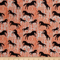 Benartex Born To Run Horses Silhouette Spice