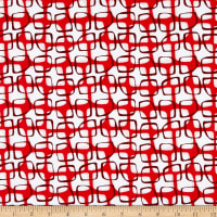 Contempo Abstract Garden Trellis Red