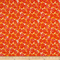 Contempo Abstract Garden Blooming Roses Orange