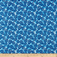 Contempo Abstract Garden Blooming Roses Blue