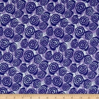 Contempo Abstract Garden Blooming Roses Purple