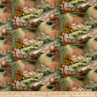 Benartex Inspirations for Living Foxglove Cottage Allover Multi