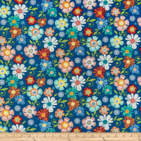 Benartex Home Grown Floral Navy