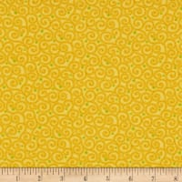 Benartex Home Grown Swirl Yellow