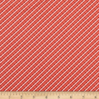 Benartex Home Grown Stripe Red