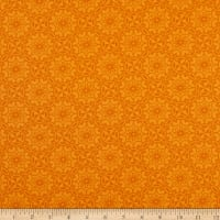 Benartex Home Grown Medallion Orange