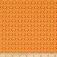 Benartex Home Grown Floret Orange