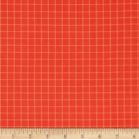 Contempo Warp & Weft Premium Yarn Dyes Windowpane Orange/Red