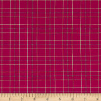 Warp & Weft Premium Yarn Dyes Double Plaid Magenta
