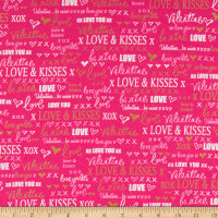 Kanvas Cherish Love Words Pink
