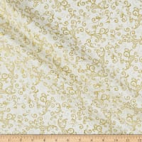 Kanvas Metallic Mixers Gold Metallic Scroll Cream/Gold