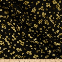 Kanvas Metallic Mixers Gold Metallic Flowers Black/Gold