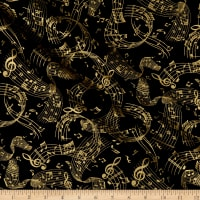 Kanvas Metallic Mixers Gold Metallic Music Swirl Black Gold