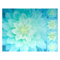 "Shannon Hoffman Digital Minky Cuddle 46"" Panel Floral"