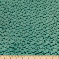 Shannon Minky Luxe Cuddle Ridge Aqua Sea