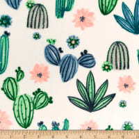 Shannon Studio Minky Cuddle Cactus Bloom Bluebell