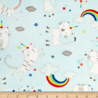 Shannon Studio Minky Cuddle Caticorns Aqua