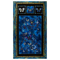 "Kanvas Butterfly Jewel 24"" Panel Royal"