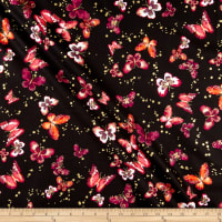 Kanvas Butterfly Jewel Butterfly Jewel Allover Black/Berry