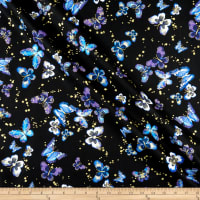Kanvas Butterfly Jewel Butterfly Jewel Allover Black/Iris