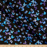 Kanvas Butterfly Jewel Mini Butterfly & Pansy Black/Royal