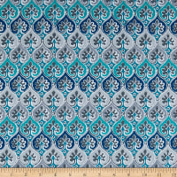 Kanvas Palermo Hourglass Mosaic Teal/Gray