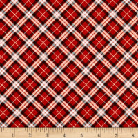 Kanvas Apple Gala Bias Plaid Red/White