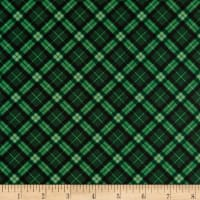 Kanvas Apple Gala Bias Plaid Hunter Green