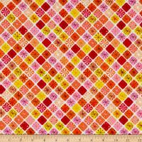 Contempo Fandangle Sparkling Squares Orange/Multi