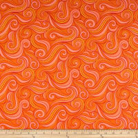 Contempo Free Motion Fantasy Flying Geese Hot Orange