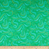 Contempo Free Motion Fantasy Flying Geese Green