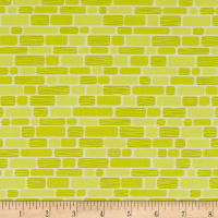 Contempo Free Motion Fantasy Bricks Lime