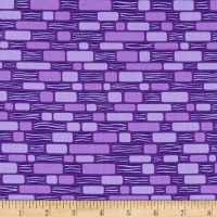 Contempo Free Motion Fantasy Bricks Purple