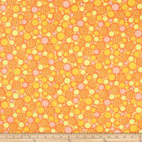 Contempo Free Motion Fantasy Pebbles Hot Orange