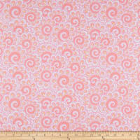 Contempo Free Motion Fantasy Swirl Feather Pink