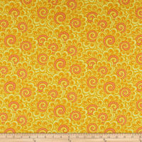 Contempo Free Motion Fantasy Swirl Feather Orange