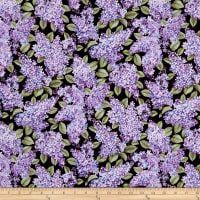 Benartex Lilacs in Bloom Black