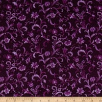 Lilacs in Bloom Vine Scroll Plum