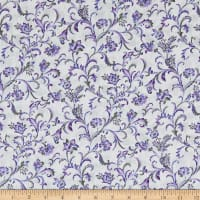 Lilacs in Bloom Fresco Scroll Violet