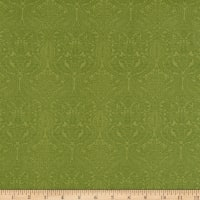 Lilacs in Bloom Damask Light Green
