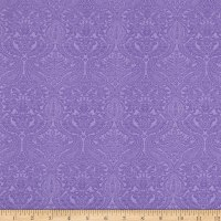 Lilacs in Bloom Damask Violet