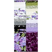 "Benartex Lilacs in Bloom 2.5"" Strip-pies"
