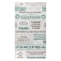 "Contempo Words to Live By Happiness 24"" Panel Grey/Multi"